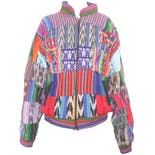70's Patches Patterns Multicolor Bright Jacket