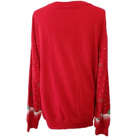 Red Sweatshirt with Winter Holiday Scenery by Holiday Time