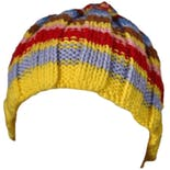 90's Multicolor Stripe Acrylic Knit Beanie Hat