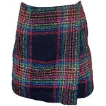 90's Rainbow Plaid Tartan Mini Skirt by Esprit