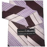 another view of 70's Purple Diagonal Striped Tie by Chadwick By Wembley