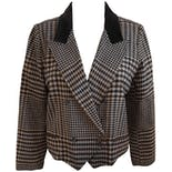 80's Ungaro Plaid Tux Blzaer by Ungaro