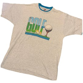 80's Men's Golf Ringer T-Shirt by Fruit Of The Loom