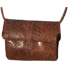Brown Snakeskin Purse by Susan Gail