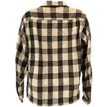 another view of 50's Brown and Beige Plaid Wool Shirt by JCPennys Towncraft