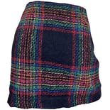 another view of 90's Rainbow Plaid Tartan Mini Skirt by Esprit