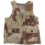 Zip Up Desert Camouflage Vest
