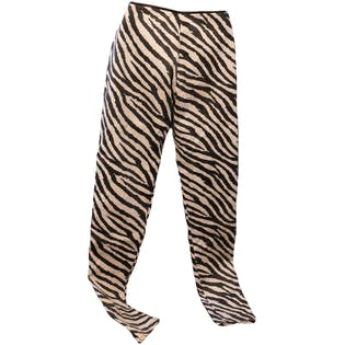 Zebra Stripe Skinny Glam Rock Pants