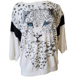 80's Leopard Graphic Print Sweatshirt by Cal Tog Ii