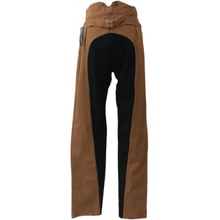 Brown and Black Western Style Pants
