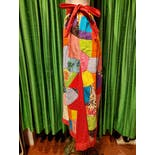 another view of Mexican Patchwork Maxi Skirt