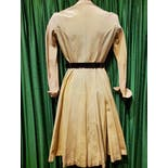 another view of 40's Pale Yellow Swing Coat by Bonwit Teller