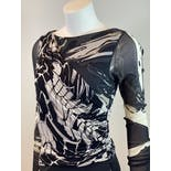 another view of 90's Abstract Black and White Dress by Emilio Pucci