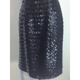 50's Black Sequin Wiggle Dress A La Marilyn