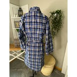 another view of Two Tone Blue and Yellow Plaid Flannel Robe by Sears