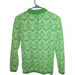 another view of Green Print Sweater