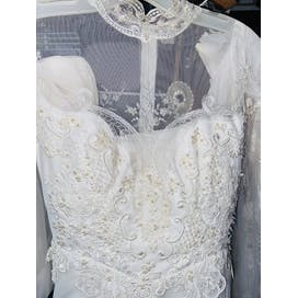80's White Lace Wedding Gown by Eve Of Milady
