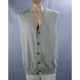 Tan Cotton Men's Sweater Vest by Chaps By Ralph Lauren