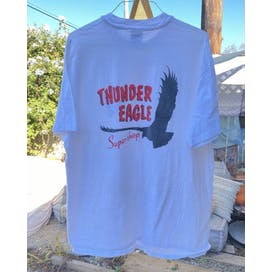 Blue Thunder Eagle Supershop T-Shirt by Hanes
