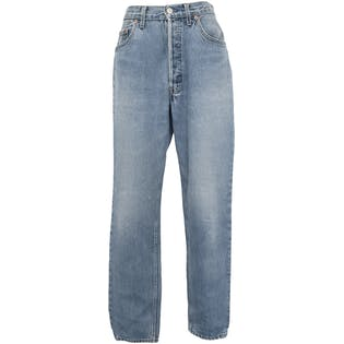 Washed Light Blue Denim Jeans by Levi's