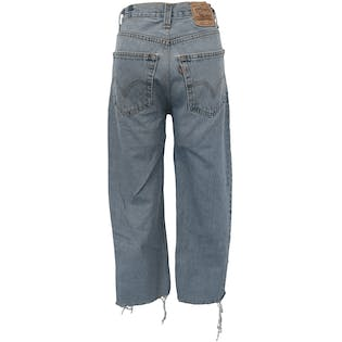 Washed Relaxed Fit Light Blue Jeans