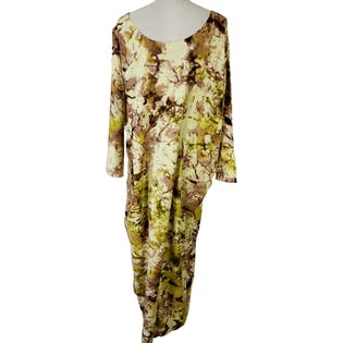 Watercolor Floral Print Caftan