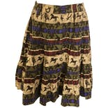 Western Print Tiered Skirt by Adobe Rose