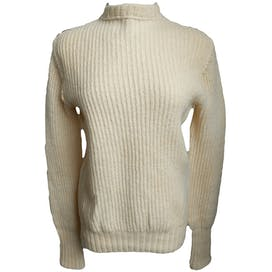 Wool Sweater with Side Shoulder Zipper