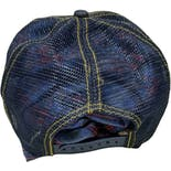 another view of 00's Von Dutch Patch Distressed Denim Snapback Hat by Cameo