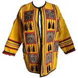 Yellow Black and Red Indian Silk Jacket by Jeet