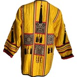 another view of Yellow Black and Red Indian Silk Jacket by Jeet