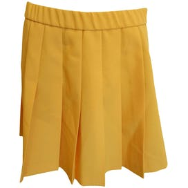 Yellow Orange Pleated Skirt by Lily's of Beverly Hills