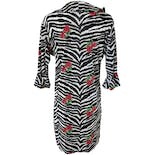another view of Zebra Mini Dress with Red Roses by Casa Lee