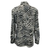 another view of 80's Zebra Print Button Up by Joan Leslie Petites